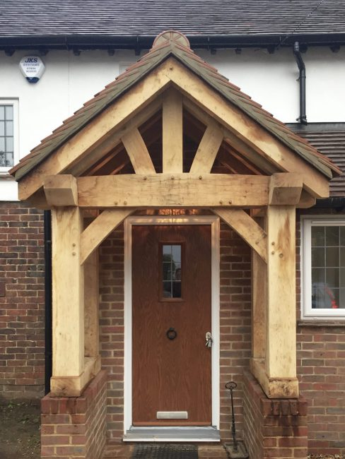 Bespoke oak framed porch