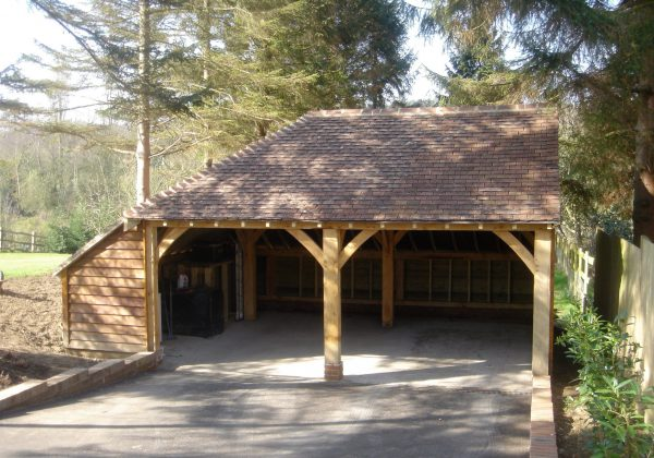 oak framed garage sussex