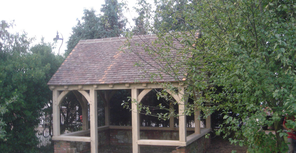 oak framed garden building