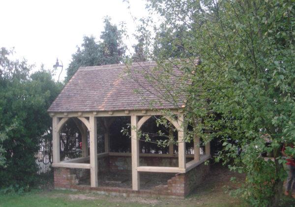 oak framed garden building