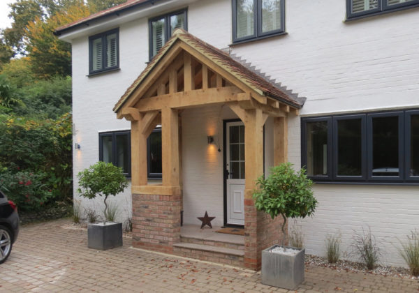 Oak framed porch kent