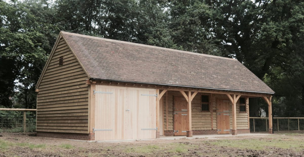 Oak framed barn and stables